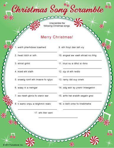 Christmas Carol Game tracys pins Pinterest Gaming, Plays and