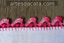 Resultado de imagem para bicos de croche p/ toalhas de banho feito com flores