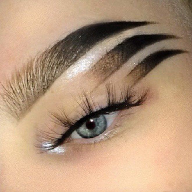 The Barmiest Brow Trends Of All Time In 2019 Brows Eyebrows