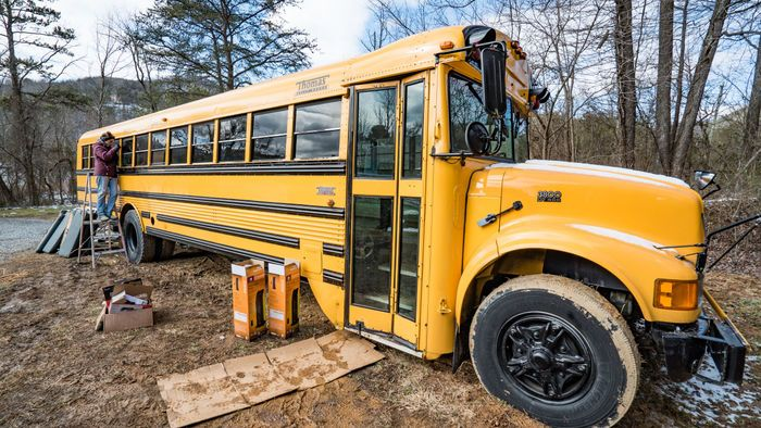 100 Adorbs Tiny Homes Old School Bus School Bus Conversion First Bus