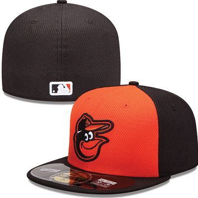 Baltimore Orioles New Era MLB Diamond Tech 5950 Fitted Hat (Orange)