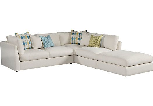 Cindy Crawford Home Crosby Street White 3 Pc Sectional