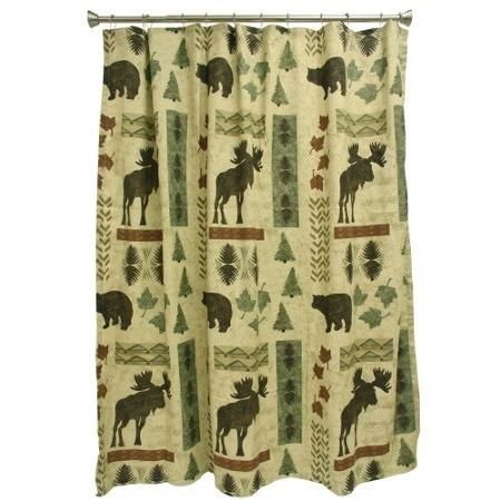 Bacova Big #Country Shower Curtain   Walmart.com #rustic #bear #moose