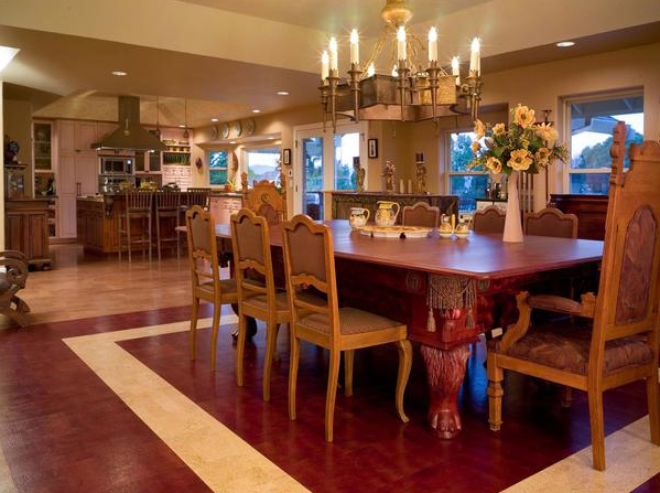 RIVELL Distributing, LLC Wood dining room, Cork flooring
