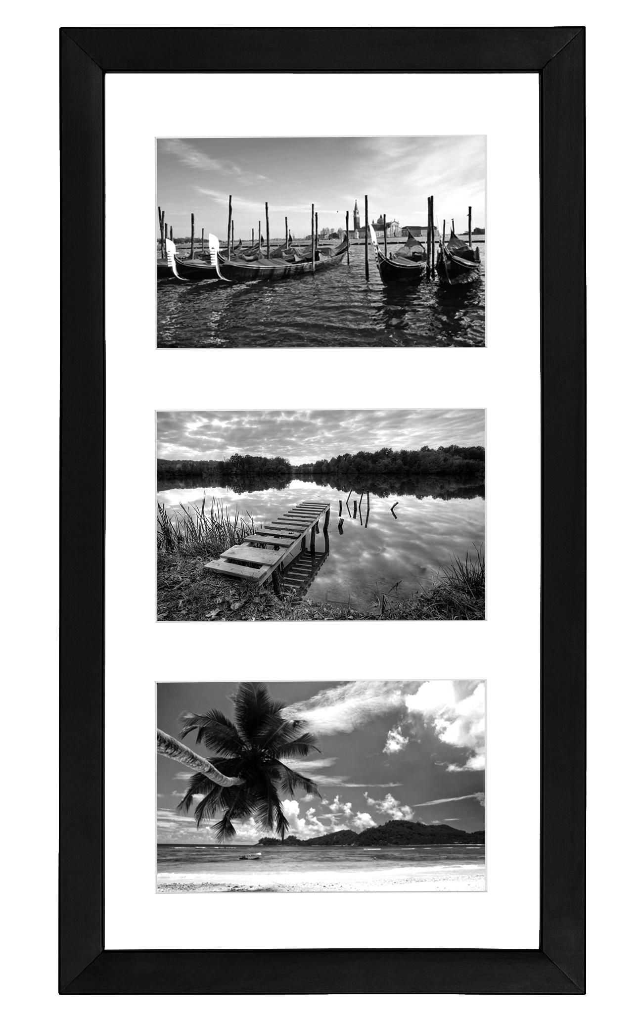Amazon Com Collage Picture Frame 4x6 Displays Three 4x6 Inch Portrait Pictures Photo Collage Frame Perfect Fo Picture Frame Display Collage Picture Frames