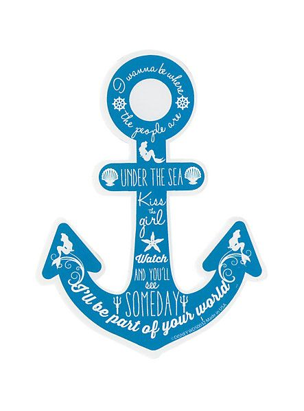Disney The Little Mermaid Anchor Quotes Sticker | Hot ...
