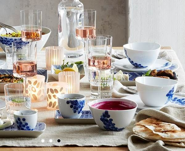 Amusing Blue And White Dinnerware Interior Decor - Decorstate & 4th of July Decor That Celebrates the Holiday in Style | White ...