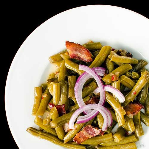 Southern Green Beans with Bacon from @kitchenriffs :-)