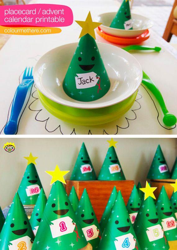 Calendario de adviento de arbolitos de navidad en - Decoracion de navidad para ninos ...