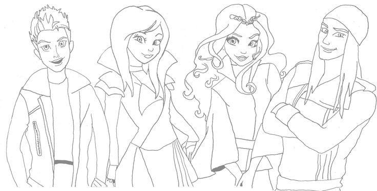 Descendentes Disney Desenhos Para Colorir Com Imagens Desenhos
