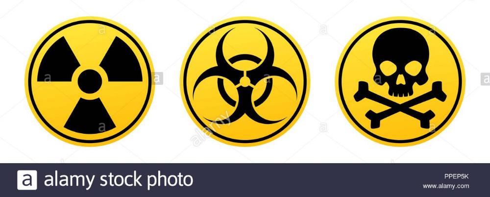 Danger Yellow Vector Signs Radiation Sign Biohazard Sign Toxic Sign Warning Signs Stock Vector Biohazard Sign Biohazard Skulls Drawing