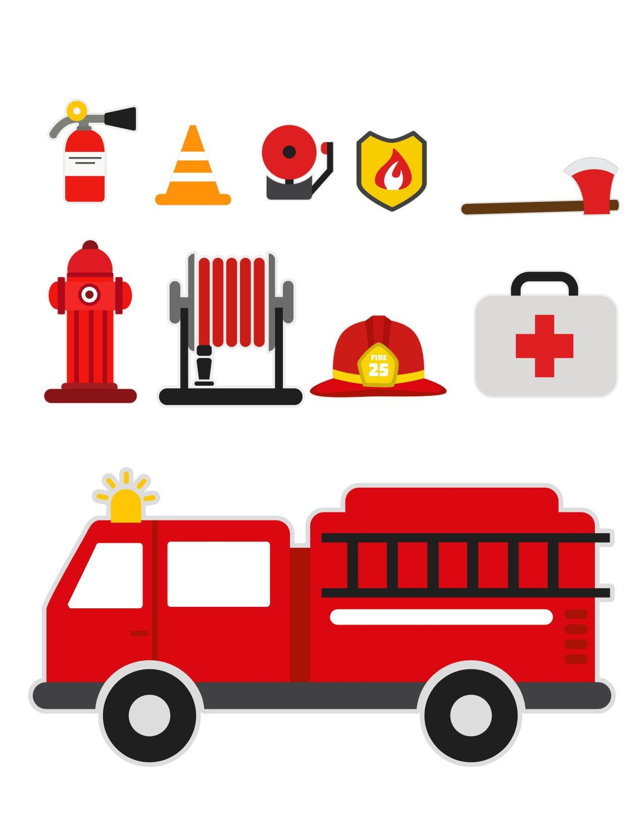 Fireman Svg Fire Truck Svg Firetruck Svg Firefighter Svg Fire
