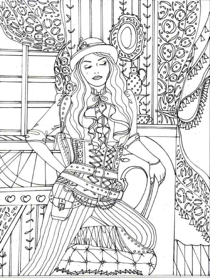 Adult Coloring Book Creative Haven Steampunk Coloring Book Adult Coloring Books Stress