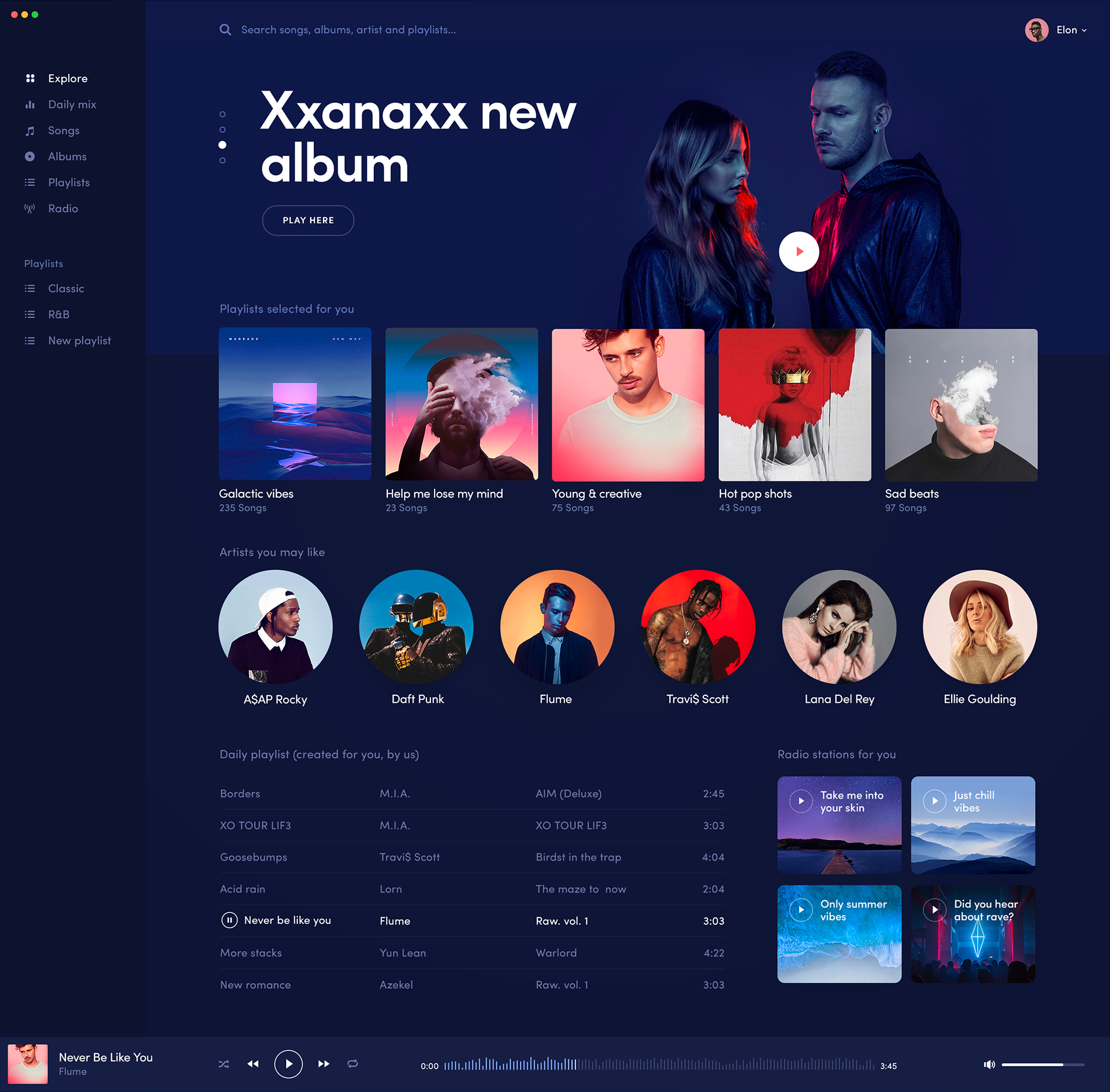 Music player for mac Inspire Design ui ux