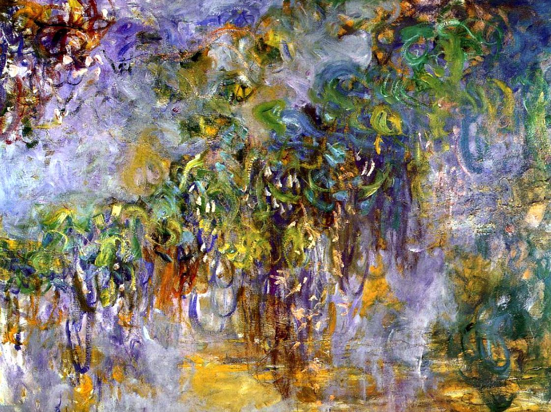 Wisteria 1 by Claude Monet Giclee Fine ArtPrint Reproduction on Canvas