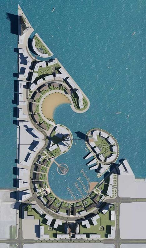 Hok 39 s masterplan design for water garden city in bahrain for United international decor bahrain