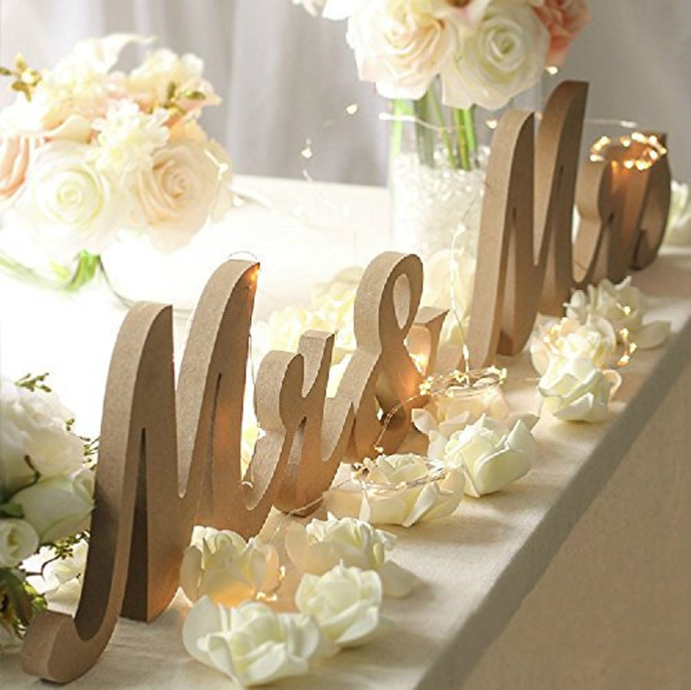 Vintage Wooden Signs Mr And Mrs Wedding Signs Rustic Etsy In 2020 Vintage Wedding Table Amazon Wedding Decor Wedding Photo Table
