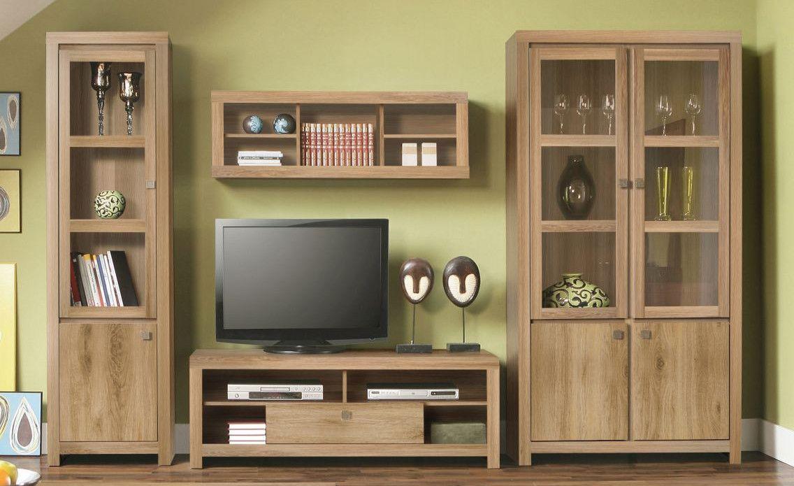 Wohnwand Eiche Natur Woody 77 00489 Holz Modern Jetzt Bestellen