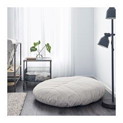 DIHULT Pouffe, Katorp natural   Pinterest   Floor pillows, Cozy and ...