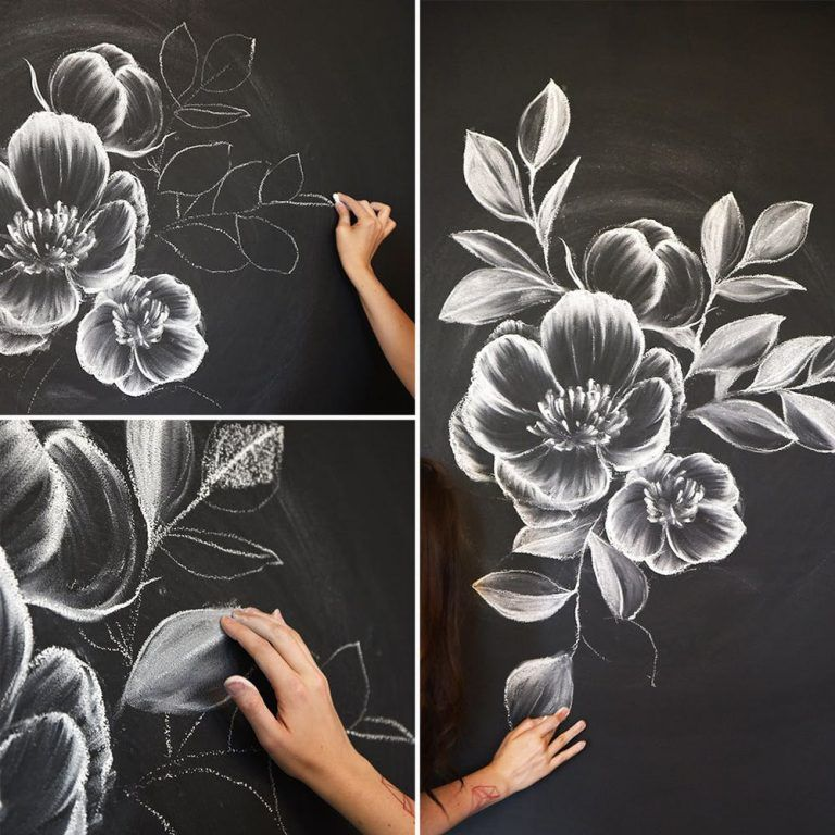 How To Draw Flowers And Turn These Drawings Into Really Cool Wall Art Craft Mart Wall Art Crafts Cool Wall Art Chalkboard Art