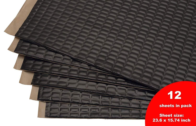 Black 80mil 30 sqft Sound Deadening mat Sound Deadener Mat