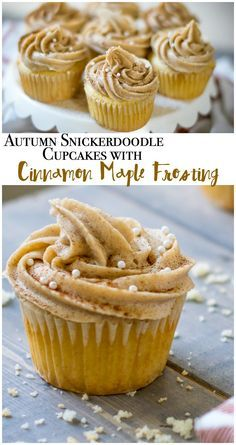 Maple Snickerdoodle Cupcakes With Homemade Maple Frosting Recipe