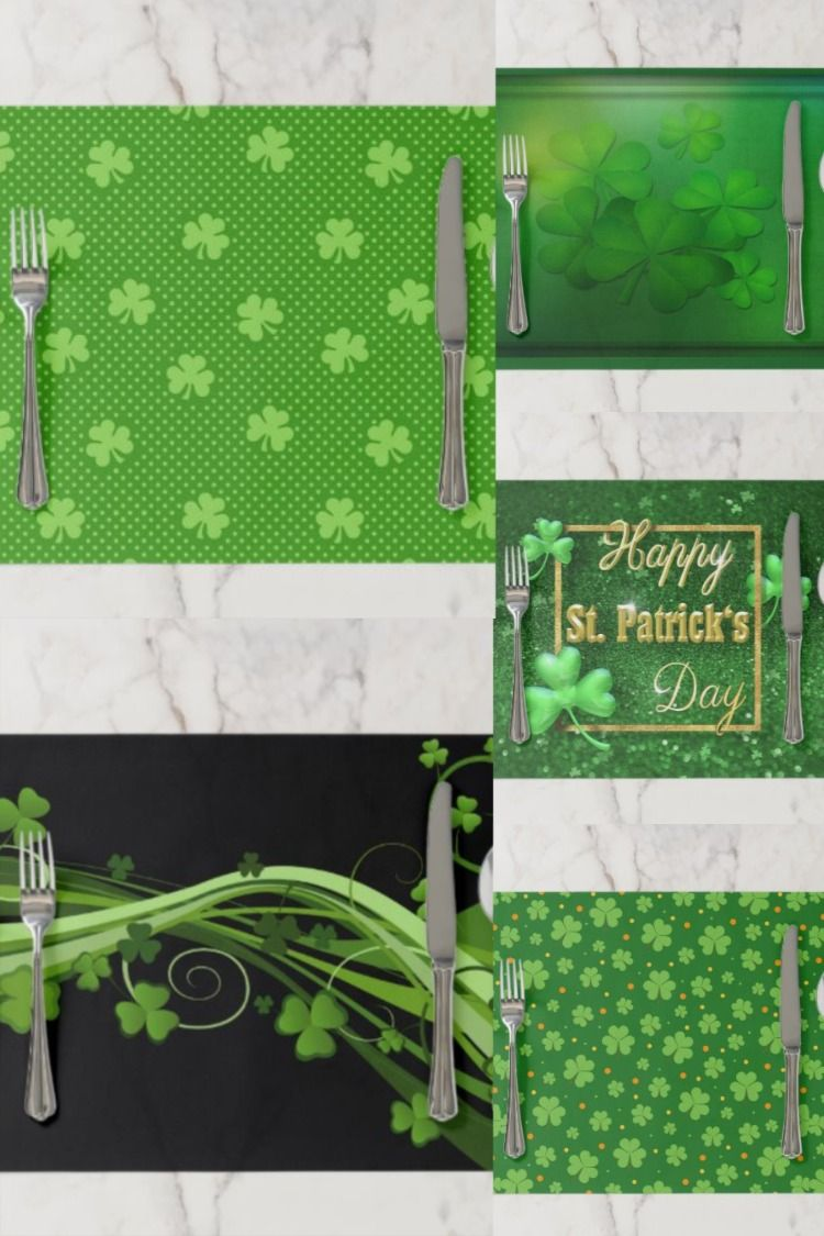 St Patrick S Day Paper Placemats In 2020 St Patricks Day Placemats St Patrick