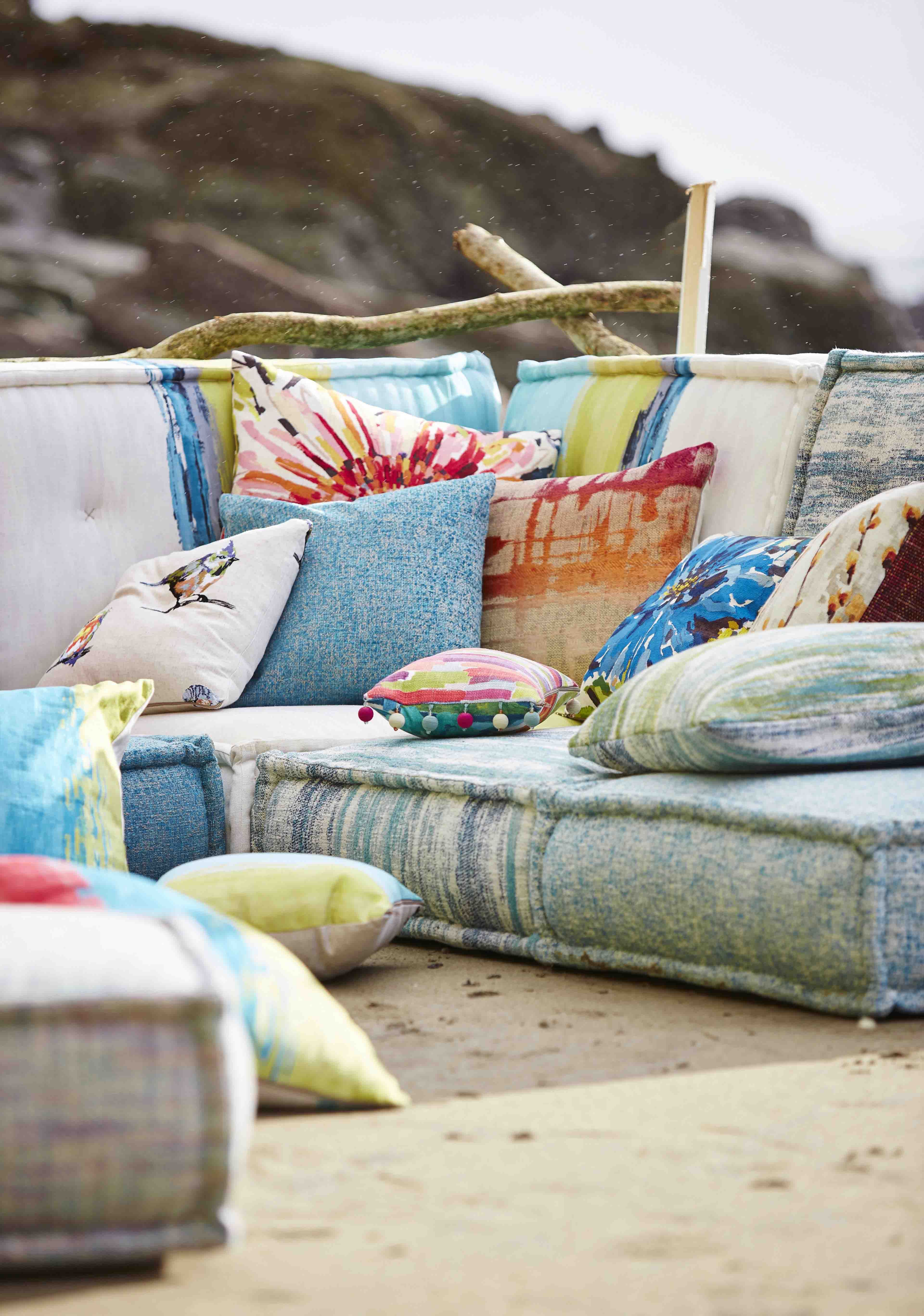 Bright, Colourful Fabrics Are Perfect For Mixing And Matching To Create A  Cheerful Seating Area