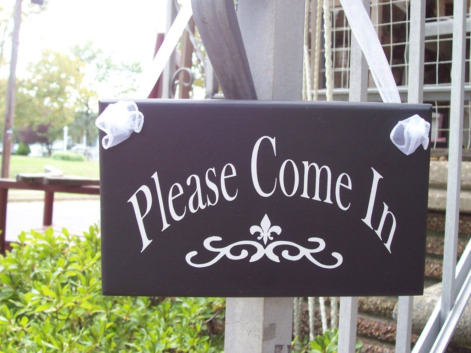 Please Come In Wood Vinyl Sign Open Welcome Sign Office ...