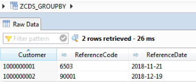 Delete duplicate entries in ABAP CDS views using Table