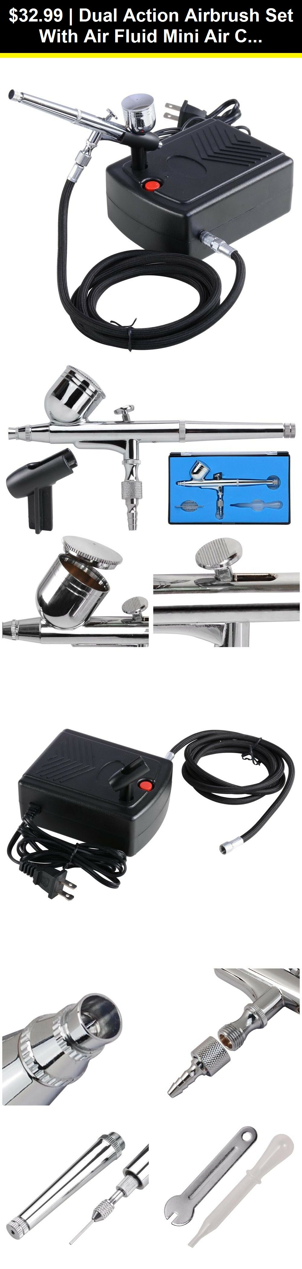 Airbrush Parts 183093 Dual Action Airbrush Set With Air