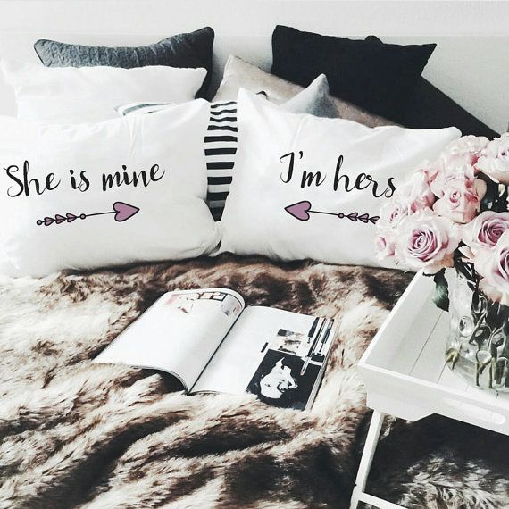 Im pinning this to my feminist board bc this is the first time ive ever  seen pillows like this for any queers