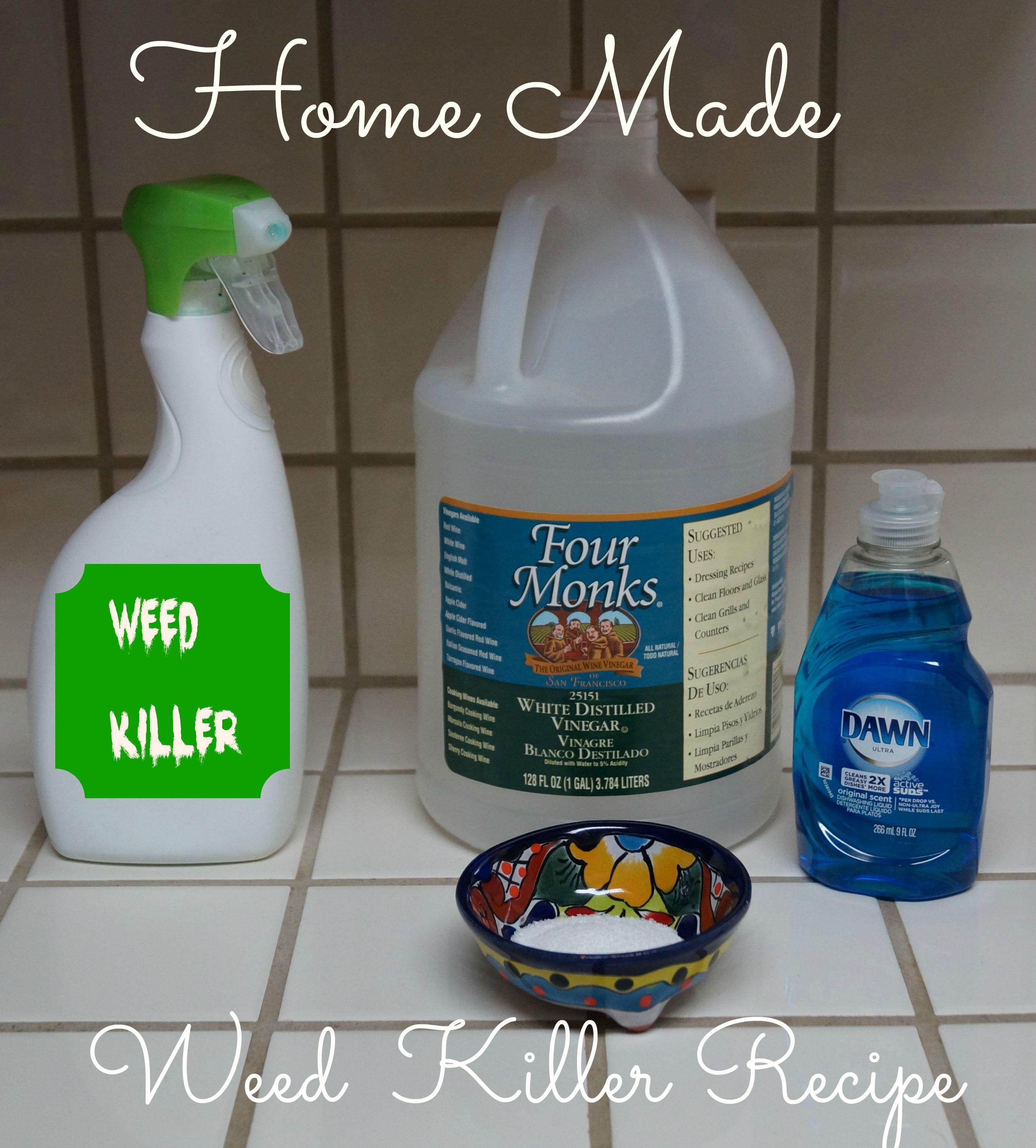 Home Made Weed Killer Recipe Gardening Weed Killer Homemade
