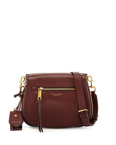 MARC JACOBS Recruit Leather Saddle Bag, Chianti.  marcjacobs  bags   shoulder bags  leather  charm  accessories  lining   9ad1554161