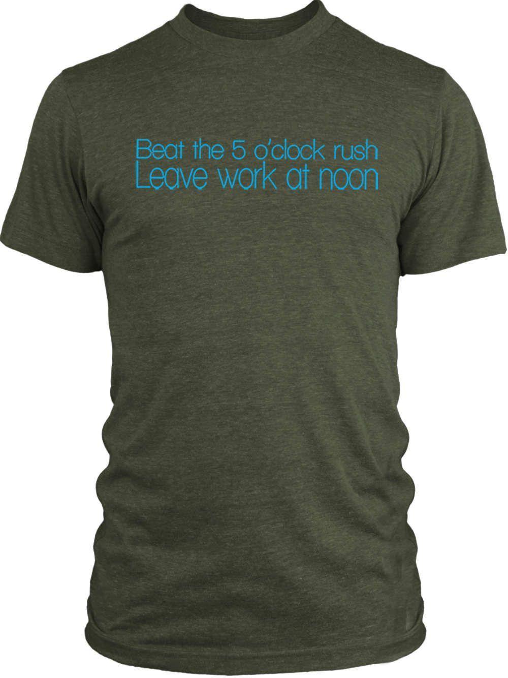 Big Texas Leave Work at Noon (Blue) Vintage Tri-Blend T-Shirt
