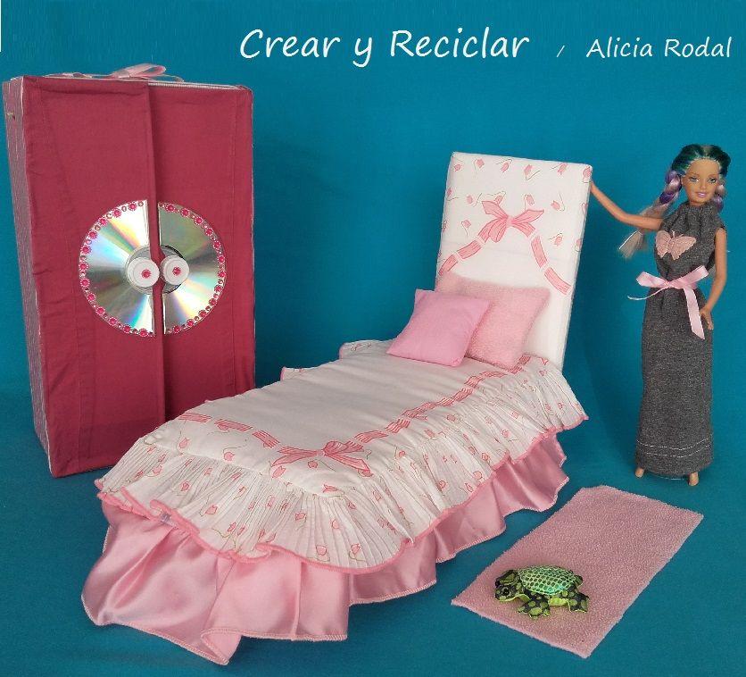 Cómo hacer una cama, una colcha y un edredón para muñecas... muy ...
