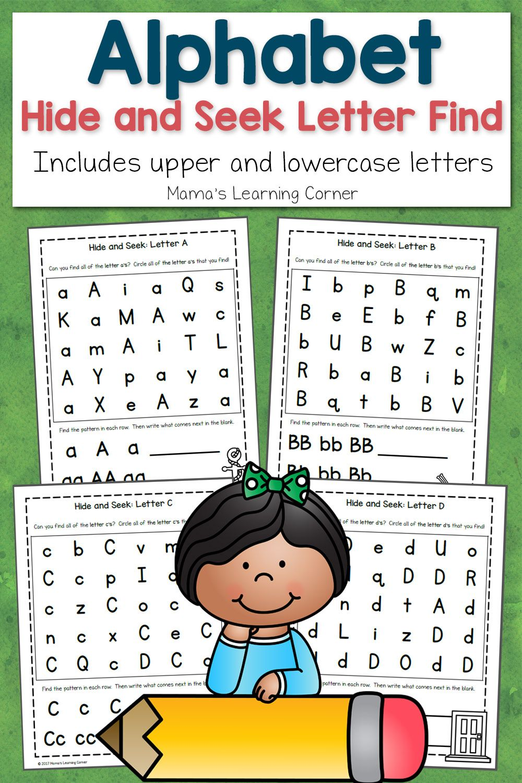 abc hide and seek letter find for preschoolers vorschule vorschule und kinder. Black Bedroom Furniture Sets. Home Design Ideas