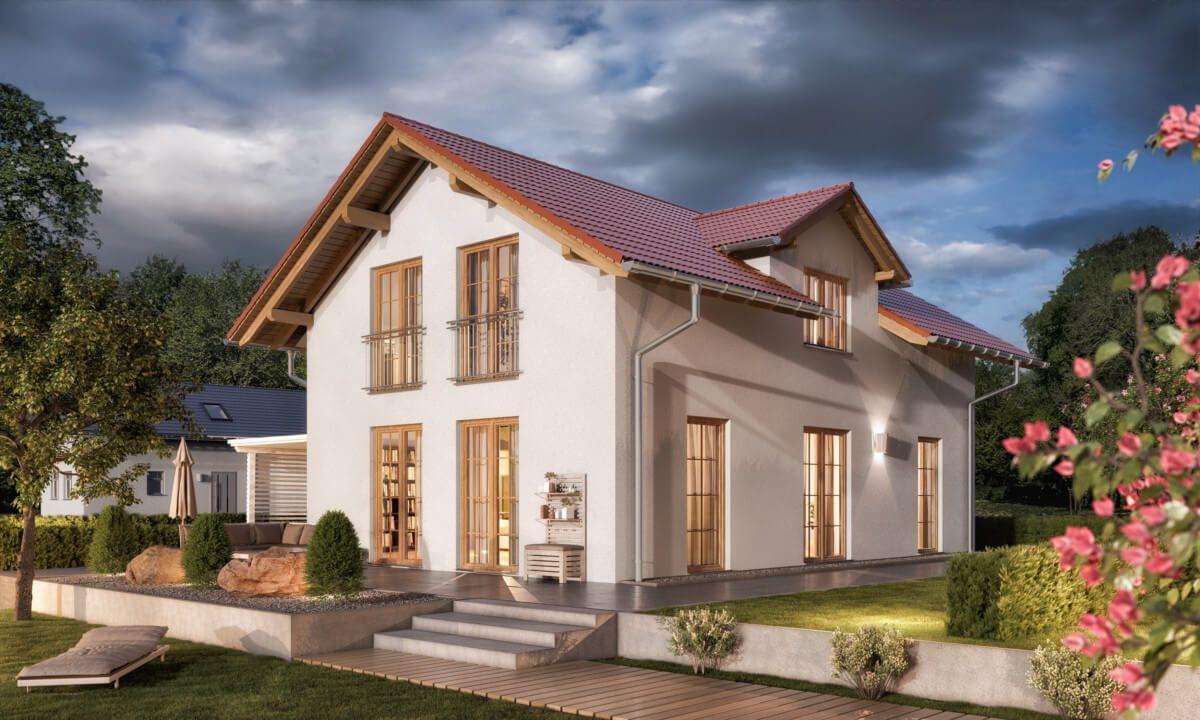 Landhaus modern im Alpenstil mit Satteldach Architektur
