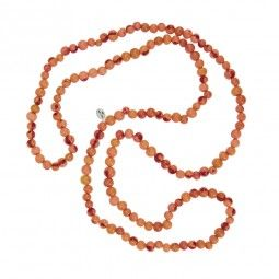Acai-Samen Kette, orange | Ketten | ACAI | escapulario - Holzarmbänder, Rosenkränze, Andachtsbändchen, Matrioshka-Ketten 29 EUR