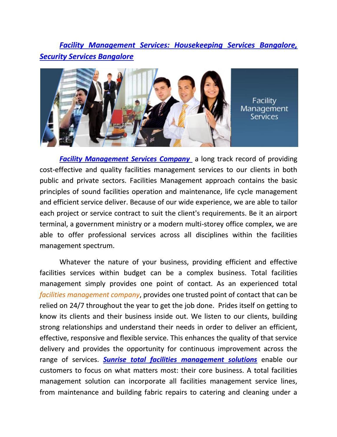 Sun Rise Enterprises  Facility Management Service Security