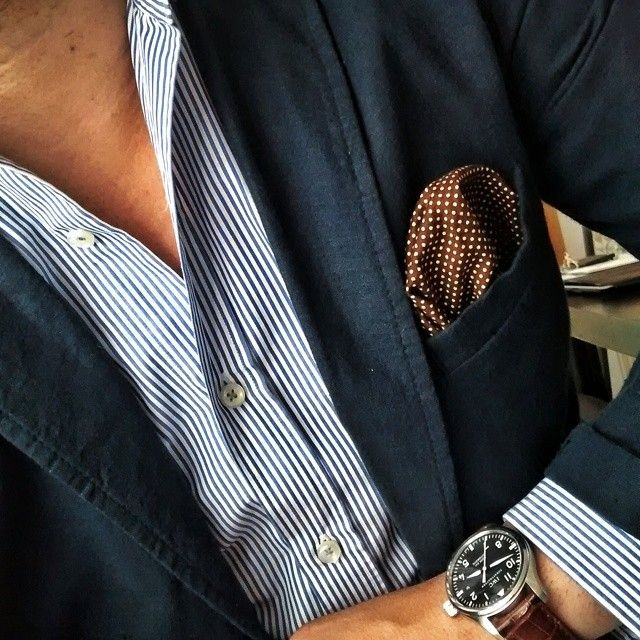 #meswear #striper #shirt #blue #blazer #jacket #watch #pocketsquare #dapper #style