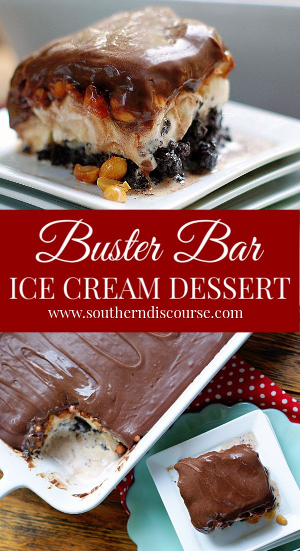 Buster Bar Ice Cream Dessert
