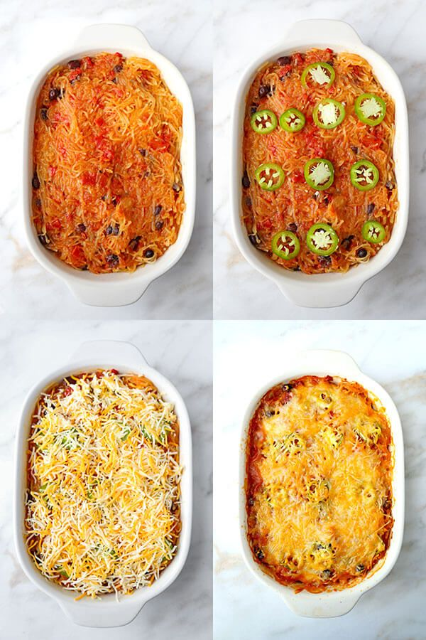Mexican Spaghetti Squash Casserole - Pickled Plum Food And Drinks