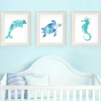 Sea Creature Nursery Theme Mermaid Nursery Baby Girl Boy