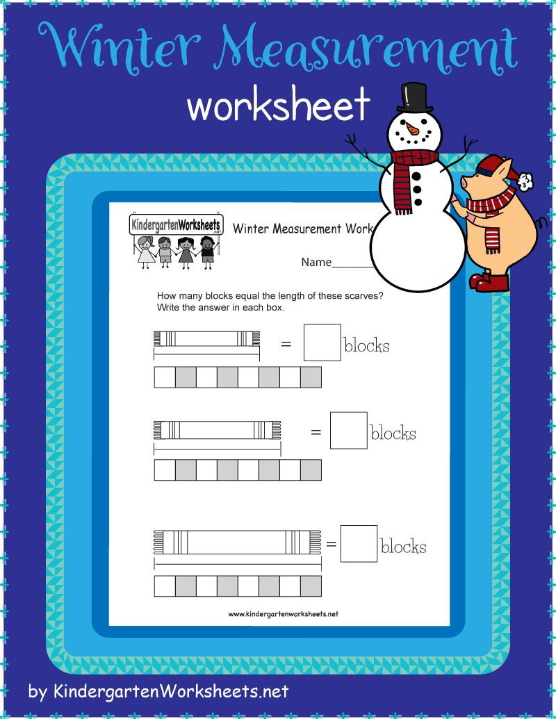 Kindergarten Winter Measurement Worksheet Measurement Worksheets Kindergarten Worksheets Free Kindergarten Worksheets [ 1035 x 800 Pixel ]