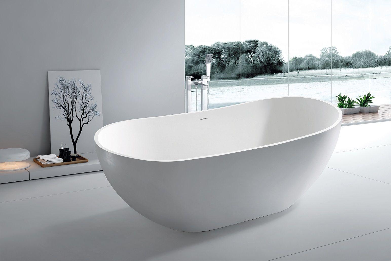 Aalish Freestanding Soaking Tub 64 Contemporary Bathtubs
