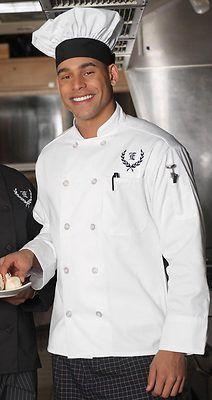 Edwards Garment Men/'s Ten Pearl Button Full Cut Kitchen Chef Coat 3301