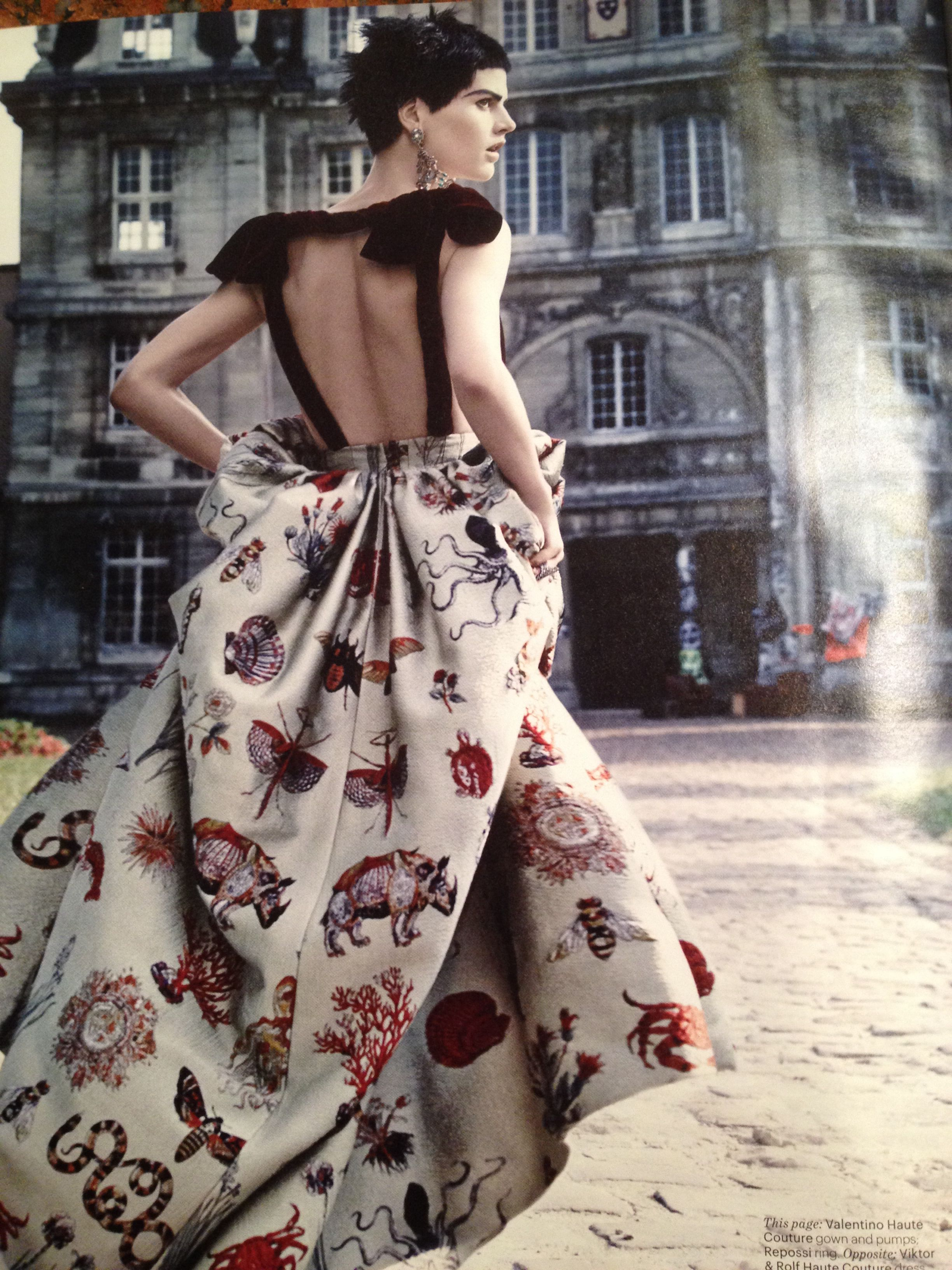 Valentino Haute Couture gown, W magazine (Oct. '13)