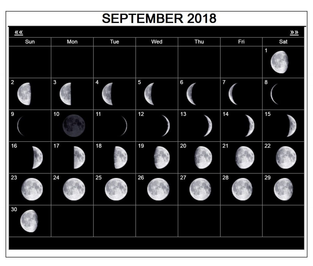 Astrological September Moon Sign Calendar Printable