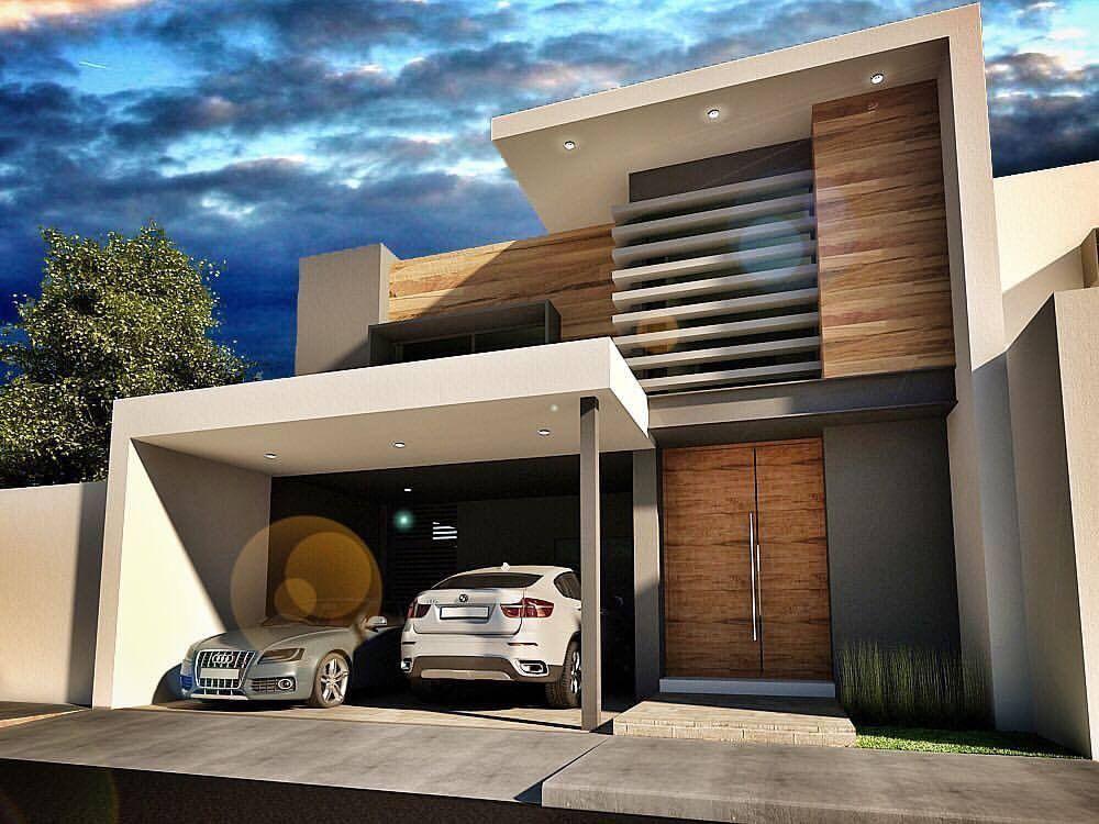 Pin de miguel en fachadas modern house design modern for Fotos fachadas casas modernas minimalistas